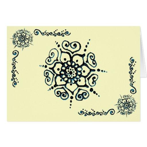 fleur de l 39 amour henn bleu cartes de v ux zazzle. Black Bedroom Furniture Sets. Home Design Ideas