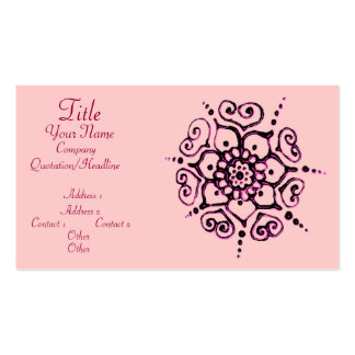 Fleur de l'amour (henné) (rose) carte de visite standard