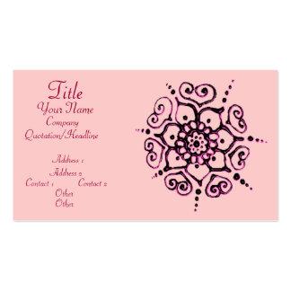 Fleur de l'amour (henné) (rose) modèle de carte de visite