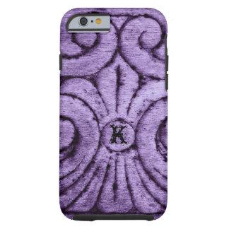 Fleur de Lis Design (pourpre) Coque Tough iPhone 6