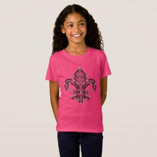 Fleur de Lis Design sur l'enfant/T-shirt de la T-Shirt