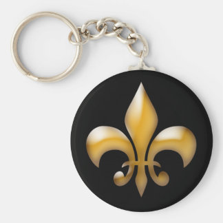 Fleur de Lis Keychain dans le noir Porte-clés