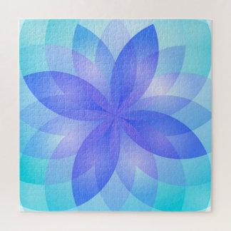 Fleur de Lotus abstraite de puzzle