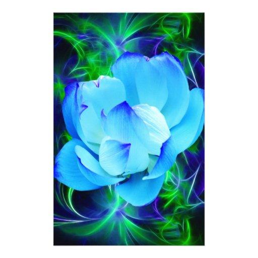 fleur de lotus bleu et sa signification papier lettre customis zazzle. Black Bedroom Furniture Sets. Home Design Ideas