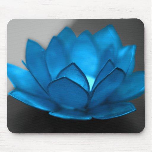 fleur de lotus bleu tapis de souris zazzle