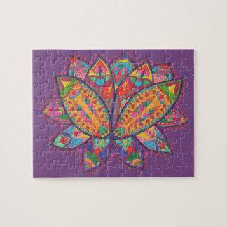 Fleur de lotus colorée puzzle