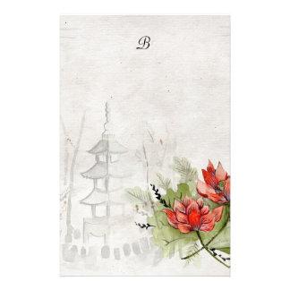 Fleur de Lotus Motifs Pour Papier À Lettre