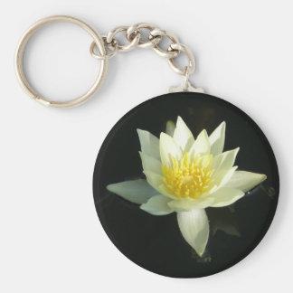 Fleur de Lotus/nénuphar Porte-clé Rond