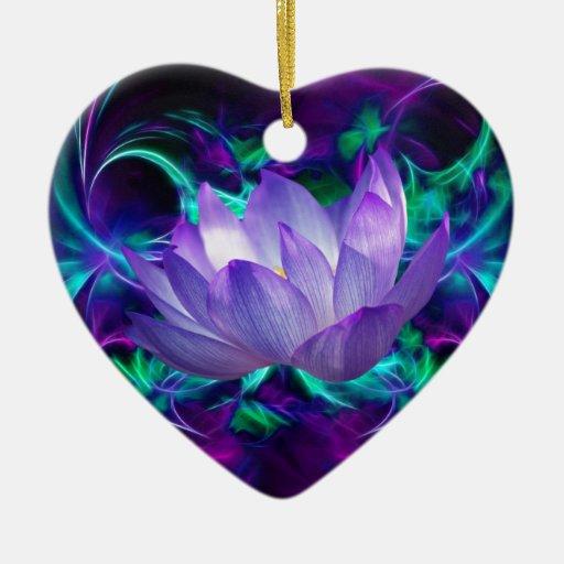 fleur de lotus pourpre et sa signification ornement c ur en c ramique zazzle. Black Bedroom Furniture Sets. Home Design Ideas