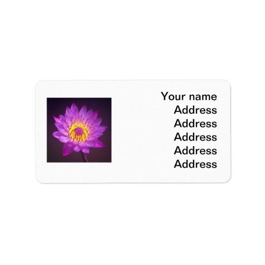 Fleur de Lotus pourpre Étiquettes D'adresse