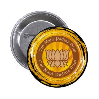 Fleur de Lotus tibétaine d'incantation Badge