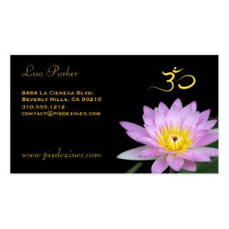 Fleur de Lotus yoga de l OM guérisseurs Cartes De Visite Professionnelles