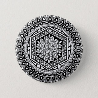 Fleur de mandala de la vie badges