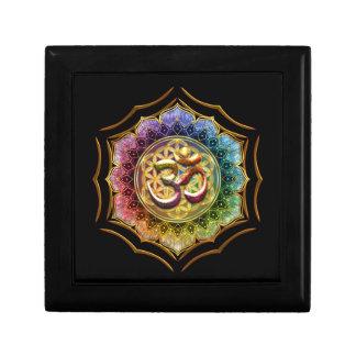 Fleur de mandala de méditation de yoga de Lotus OM Boîte À Souvenirs
