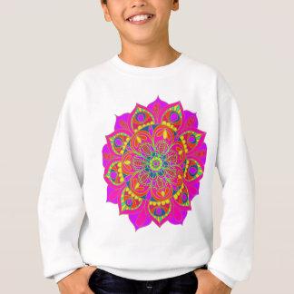Fleur de mandala de roses indien sweatshirt