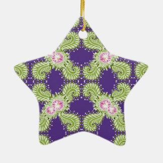 Fleur de minuit ornement étoile en céramique