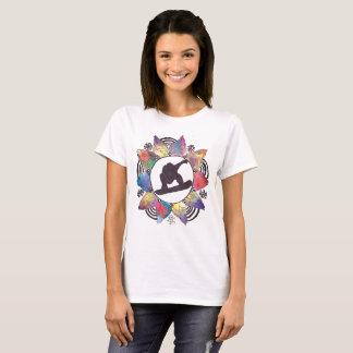 Fleur de montagne de surfeur t-shirt