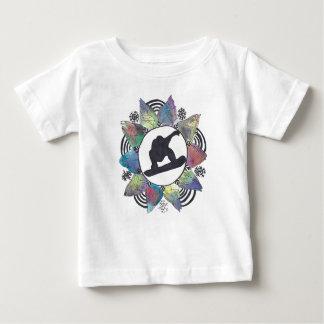 Fleur de montagne de surfeur t-shirt pour bébé