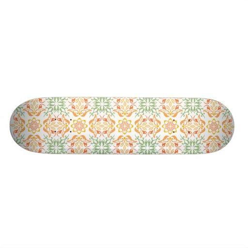 Fleur de motif de chinois traditionnel plateau de skate