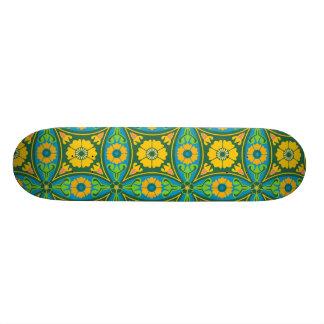 Fleur de motif de chinois traditionnel plateaux de skate