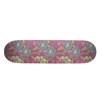 Fleur de motif de chinois traditionnel planches à roulettes customisées