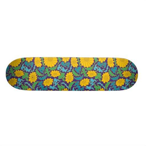 Fleur de motif de chinois traditionnel skateboards cutomisables