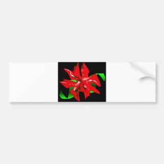 Fleur de Noël personnalisable Autocollant Pour Voiture