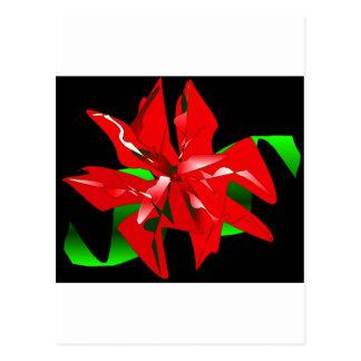 Fleur de Noël personnalisable Carte Postale