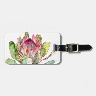 Fleur de Protea Étiquette À Bagage