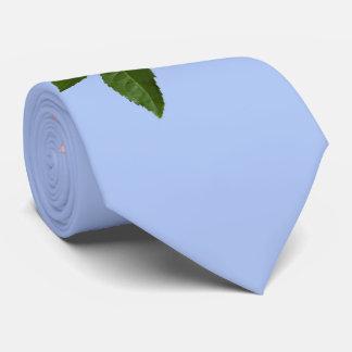 Fleur de rose de rose avec des baisses de rosée cravates personnalisées