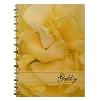 Fleur de rose jaune carnets