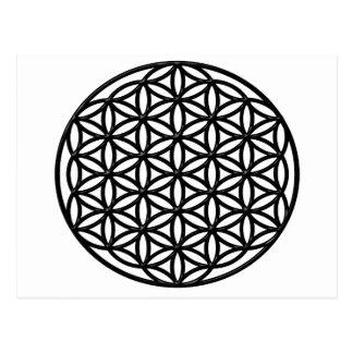 Fleur de symbole sacré de la géométrie de la vie cartes postales