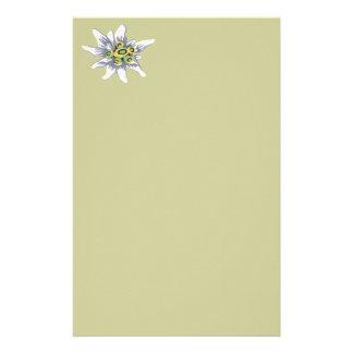 Fleur d'edelweiss papier à lettre personnalisable