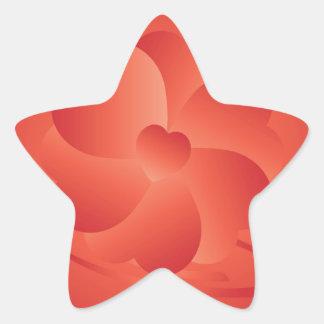 Fleur des coeurs sticker étoile