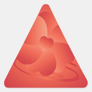 Fleur des coeurs sticker triangulaire