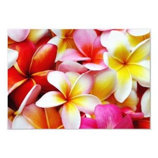 Fleur d'Hawaï de Frangipani de Plumeria customisée Carton D'invitation 8,89 Cm X 12,70 Cm
