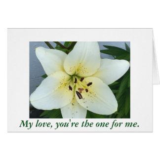 Fleur d'hémérocalle vous m'épouserez des cartes de
