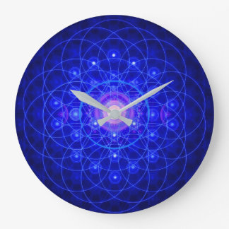 Fleur d'horloge de la vie grande horloge ronde