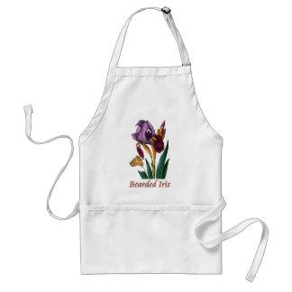 Fleur d'iris barbu tablier