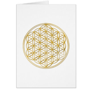 Fleur d'or de la vie  , petite carte de vœux