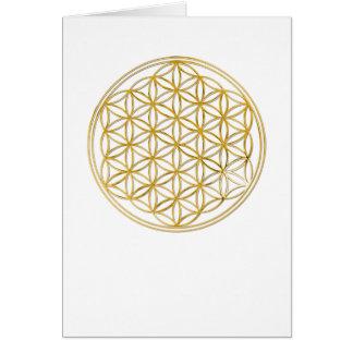Fleur d'or de la vie |, petite cartes de vœux