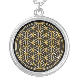 Fleur d'or de la vie |, petite pendentif rond
