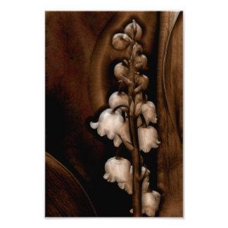 Fleur du muguet dans Brown foncé Photographie