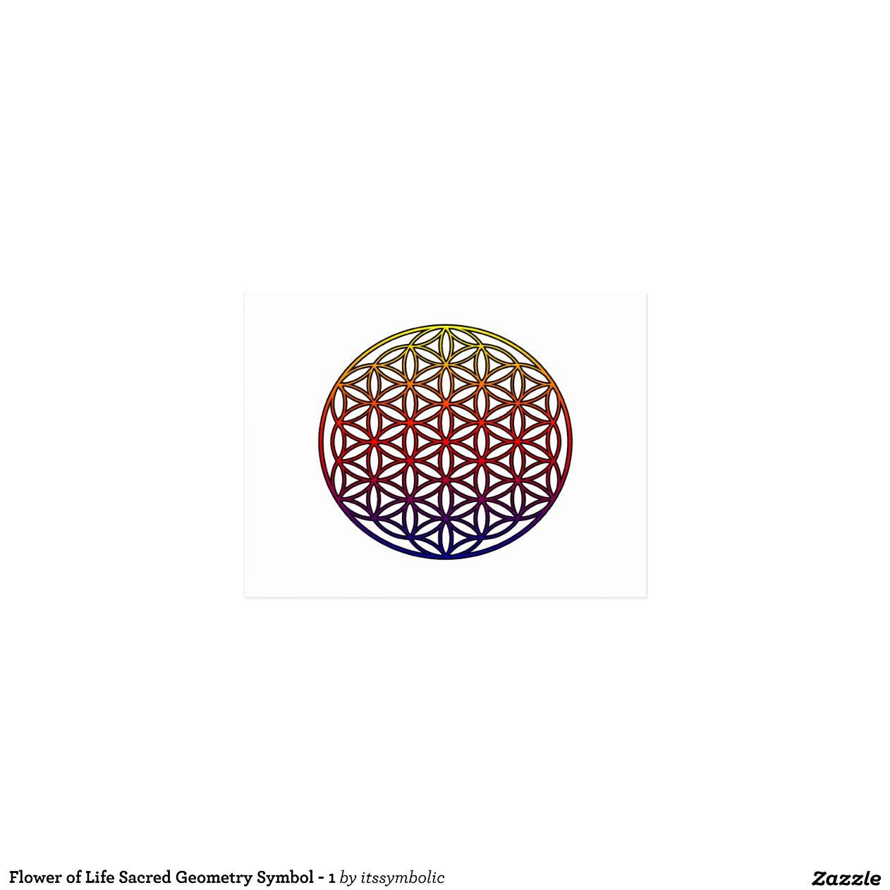 Fleur du symbole sacr de la g om trie de la vie cartes postales zazzle - Symbole de la vie ...