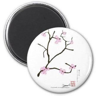 Fleur élégante 1 de Fernandes Sakura Magnet Rond 8 Cm