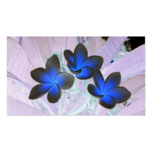 Fleur élégante bleue modèle de carte de visite