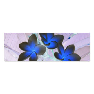Fleur élégante bleue modèles de cartes de visite