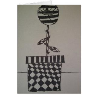 Fleur en noir et blanc, cartes de note