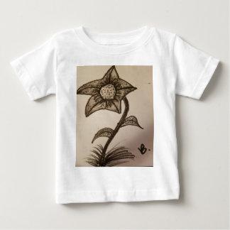 fleur encrée #1. t-shirt pour bébé