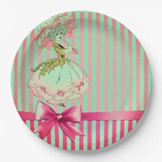 fleur-enfant-pivoine-rose assiettes en papier